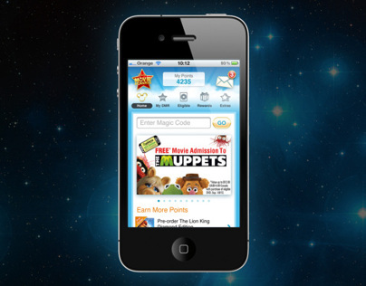 Movie Rewards mobile site