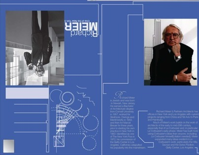 Mailer for famous architect Richard Meier