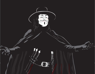 V for vendetta movie poster (minimalist)