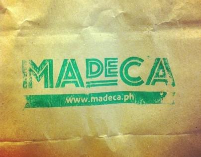 MADECA restaurant branding