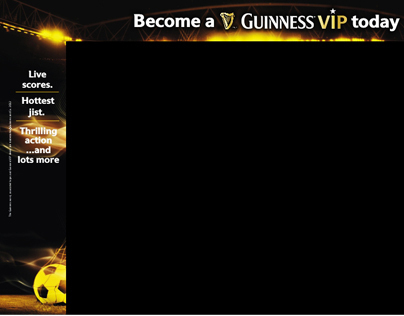 Goal.com website branding for Guinness VIP