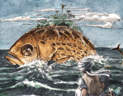 Sinbad's first voyage - Illustration