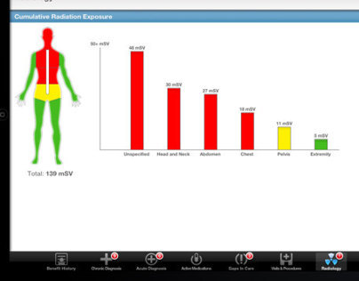 iPad interface for health care