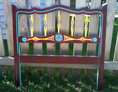 Hand-painted Headboard