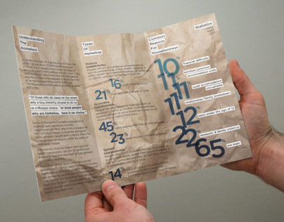 A trifold brochure on homeless Sydney