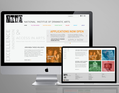 Rebranding NIDA. National Institute of Dramatic Arts.