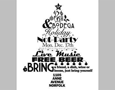 Typographic Holiday Flyer