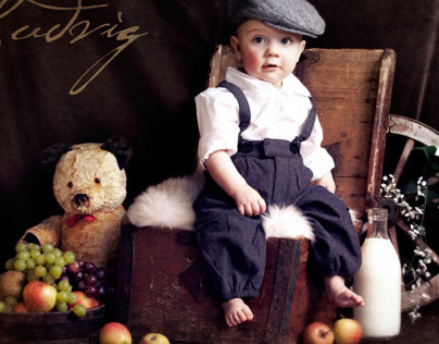 Vintage child portrait