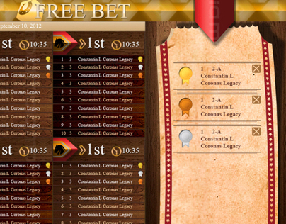 Mockup for a Horse Betting App