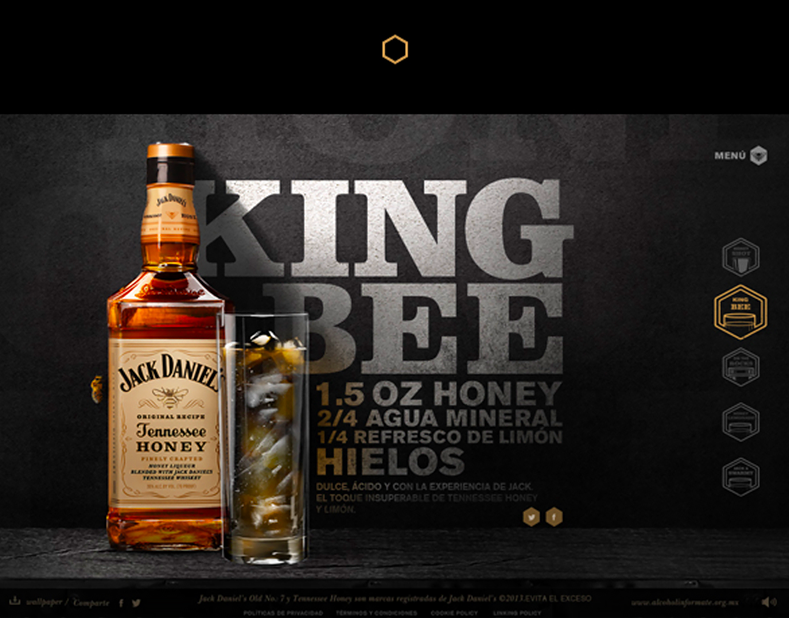 Jack Daniel's Tennessee Honey / Web Site