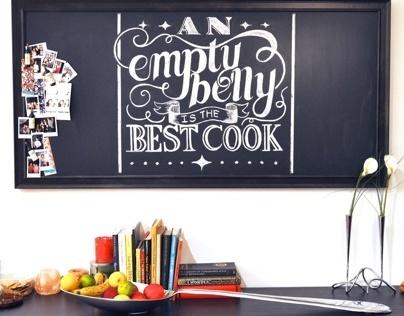 Kitchen Chalkboard Lettering