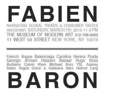 Fabien Baron exhibit invitation