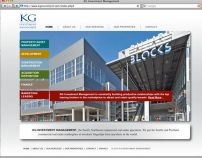 KG Investments Website