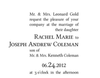 Etchwick Traditional Nuptial Invitation Suites