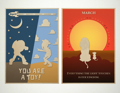 NCA 2013 calendar posters - childrens animated movies