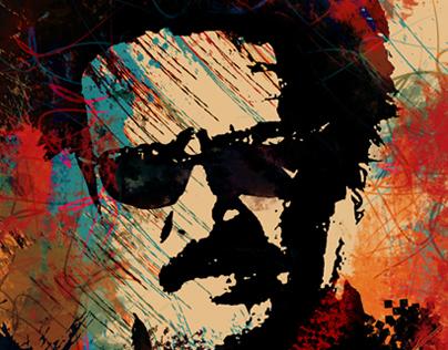 Mixed Media Art -SUPER STAR RAJNI