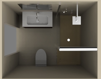 Small bathroom visualization