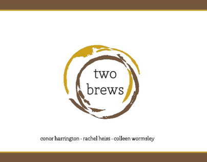 School Work: Two Brews Brand Book