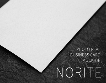 Norite Business Card Mock-up