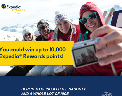 Expedia Rewards Points – Instant Win Contest