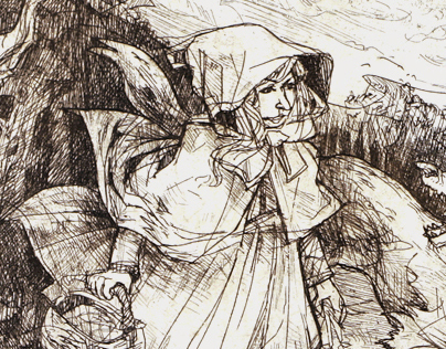 Little Red Riding Hood | etching