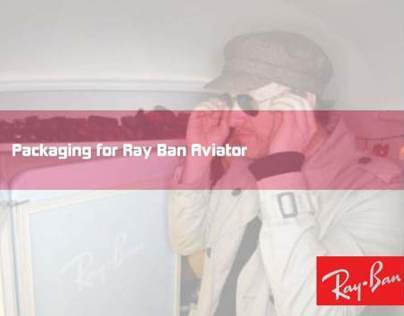Packaging for Ray Ban Aviator