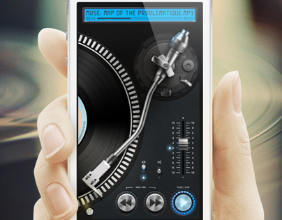 Turntable Player iPhone App Concept