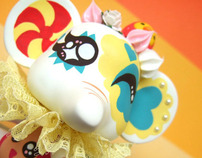 Custom Vinyl Quee - MASHIE the clown Elephant
