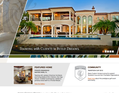 Akers Custom Homes - web design