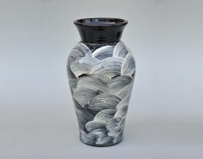 Stoneware Vases- Slip Decorated 2002-06