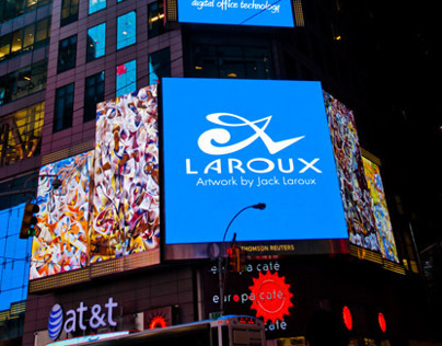 TIMES SQUARE. LAROUXart lights up TIMES SQUARE!