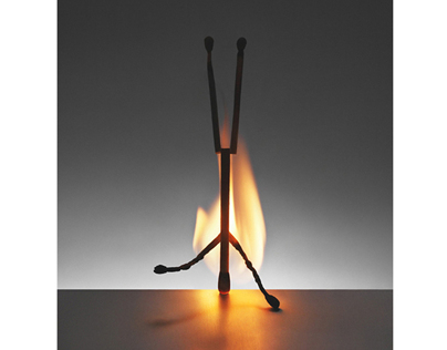 "Matchsticks, ""Homage to Alberto Giacometti"""