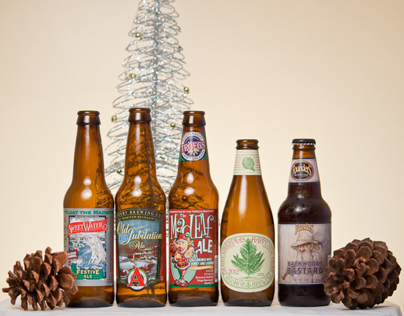 Christmas Beer Product Photography
