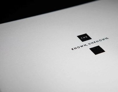 The Known, Unknown. // Illustrative Publication