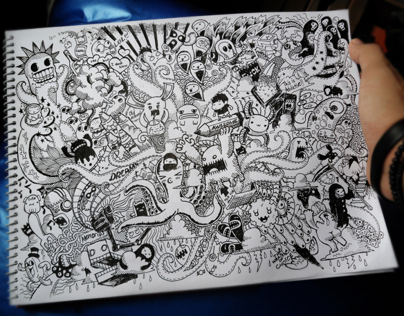2011-2012 DOODLES Batch 4 : Full Page Drawings