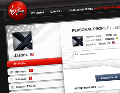 Virgin Gaming Profile Concept