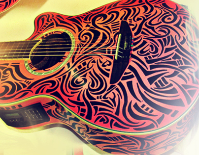Tribal Love Guitar Art