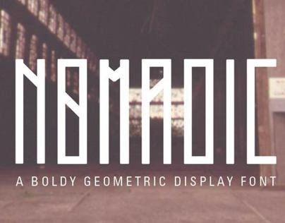 Nomadic Display Font