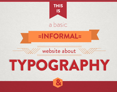 Basic Typography website