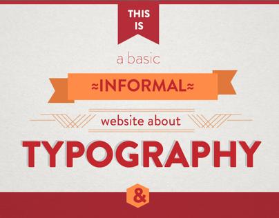 Basic Typography website