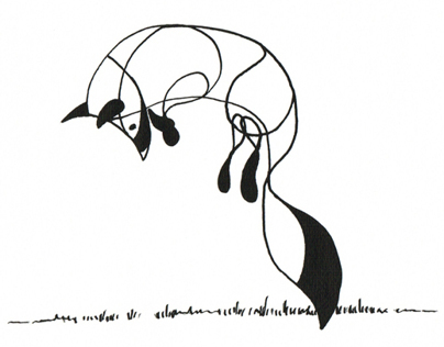 Fluid Animal Pen and Ink Drawings