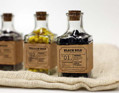 The Four Humors Branding and Packaging