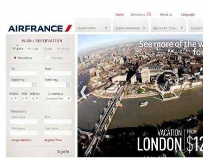 Air France Website Proposal