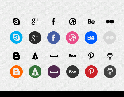 Design Social Icons set