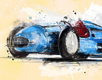 Cars & Motorsport (Digital Painting)