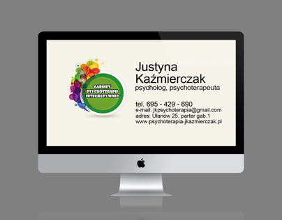psychology cracow business card