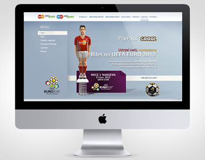 Mastercard Paypass Gool Website / Game