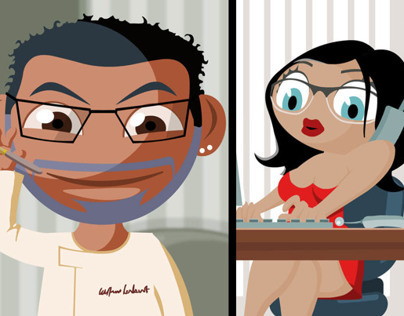 Gallery restaurant advertising flash cartoon