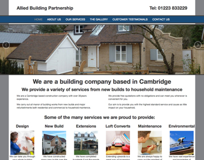 The Allied Building Partnership Responsive Website