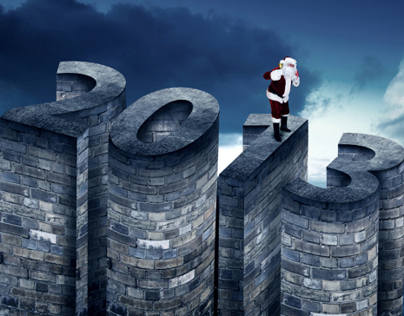 Happy New year & merry Xmas 2013 - 3d